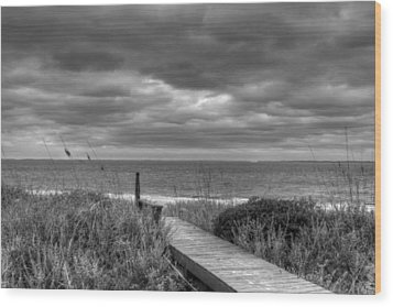 Cloudy Day In Paradise Wood Print by David Paul Murray