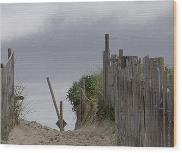 Wood Print featuring the photograph Cloudy Morning by Michael Friedman