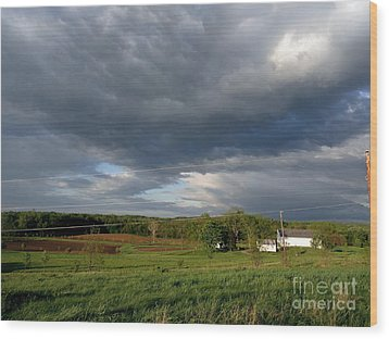 cloudy with a Chance of Paint 2 Wood Print by Trish Hale