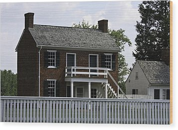 Clover Hill Tavern Kitchen Appomattox Virginia Wood Print by Teresa Mucha