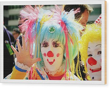 Wood Print featuring the photograph Cloverleaf Clown by Alice Gipson