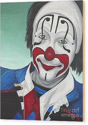Clown - Billy Ballantine  Wood Print by Patty Vicknair