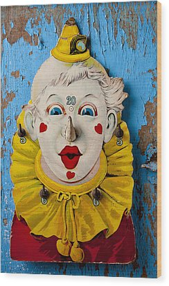 Clown Toy Game Wood Print by Garry Gay