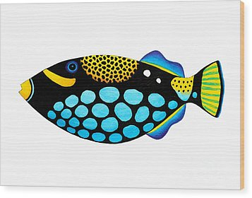 Clown Triggerfish  Wood Print by Opas Chotiphantawanon