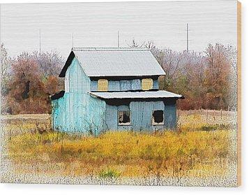 Co-ed Building - No. 162 Wood Print