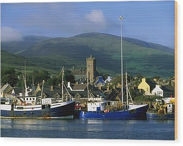 Co Kerry, Dingle Harbour Wood Print by The Irish Image Collection