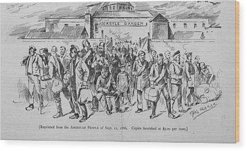 Coal Miners, Pittsburgh Pa. 1888 Wood Print by Everett
