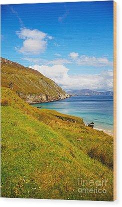 Coast At Keem Bay On Achill Island Wood Print by Gabriela Insuratelu