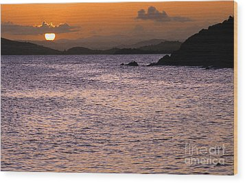Coast Guard Beach Sunset Wood Print by Thomas R Fletcher