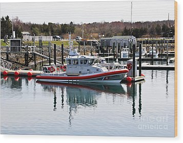 Coast Guard Wood Print by Extrospection Art
