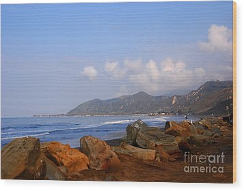 Coast Line California Wood Print by Susanne Van Hulst