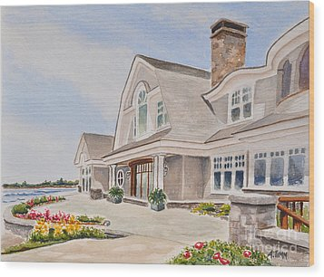 Coast Of Maine Wood Print by Andrea Timm