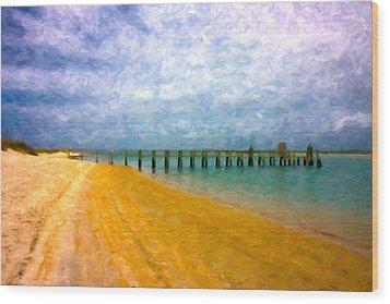 Coastal Dreamland Wood Print by Betsy Knapp