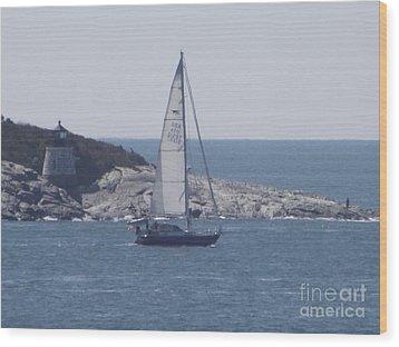 Coastal Newport Ri  Wood Print