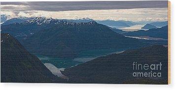 Coastal Range Fjords Wood Print by Mike Reid