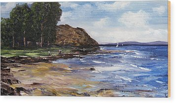 Coastel View Wood Print