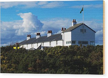 Coastguard Cottages Dunwich Heath Suffolk Wood Print by Darren Burroughs