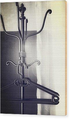 Coat Rack Wood Print by Joana Kruse