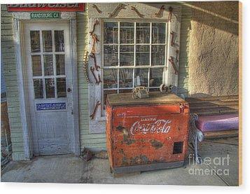 Coca Cola Cooler Randsburg Wood Print by Bob Christopher