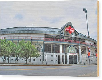 Wood Print featuring the photograph Coca Cola Field  by Michael Frank Jr