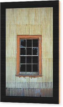 Cocina Window Border Wood Print