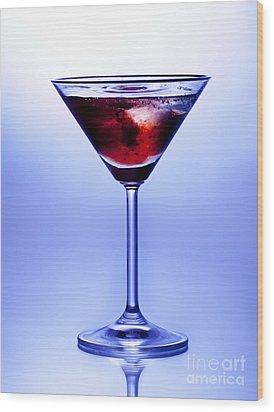 Cocktail Wood Print by Jane Rix