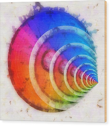 Code Of Colors 8 Wood Print by Angelina Vick