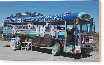 Coffee Bus Wood Print by Dany Lison