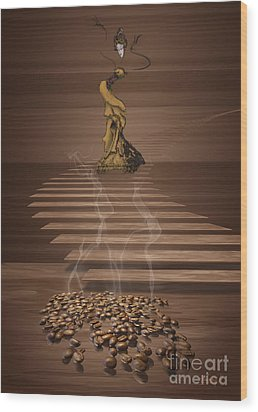 Coffee Wood Print by Johnny Hildingsson