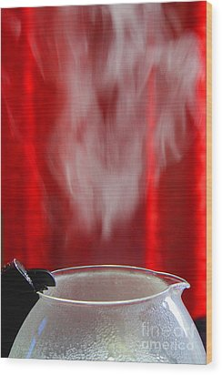 Coffee Time Wood Print by Nareeta Martin