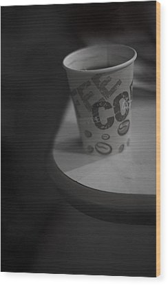Coffee To Go Wood Print by Tal Richter