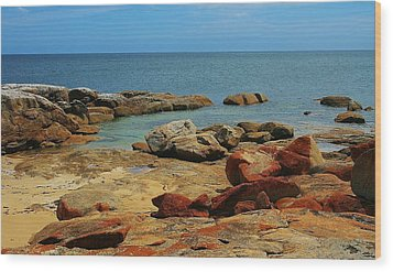 Coffin Bay Np 02 Wood Print by David Barringhaus