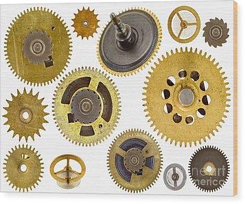 Cogwheels - Gears Wood Print by Michal Boubin