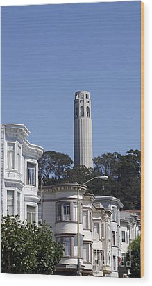 Wood Print featuring the photograph Coit Tower by Denise Pohl
