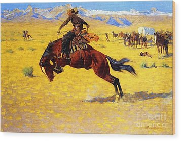 Cold Morning On The Range Wood Print by Pg Reproductions