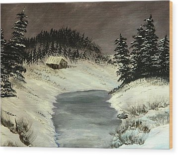 Cold Out There Wood Print by Everette McMahan jr