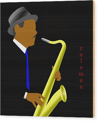 Coleman Hawkins Wood Print by Victor Bailey