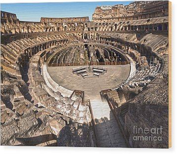 Coliseum Wood Print by Gregory Dyer