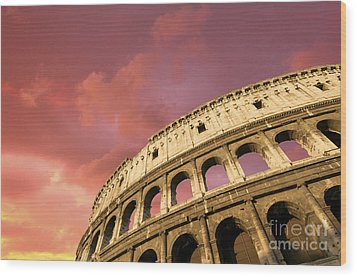 Coliseum. Rome. Lazio. Italy. Europe Wood Print by Bernard Jaubert