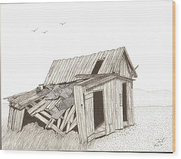 Collapsed Wood Print by Pat Price