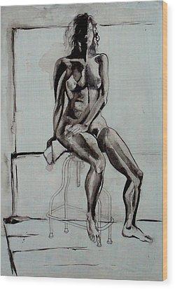 Collins Wood Print by Nina Mirhabibi