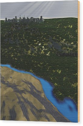 Colony Wood Print by James C Jones II