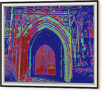 Color Abstraction-35 Wood Print by Anand Swaroop Manchiraju
