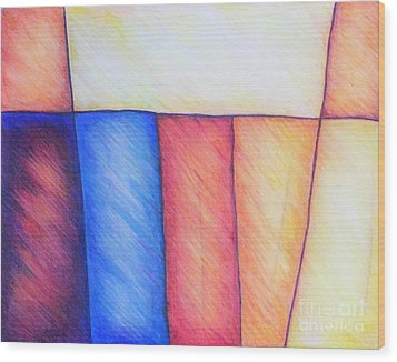 Color Block Wood Print