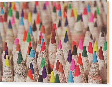 Color Forest Wood Print by Brandon Goldman