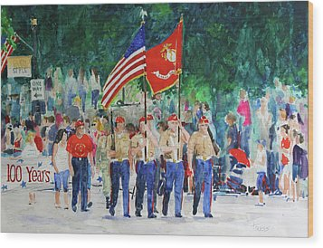 Color Guard Wood Print by William Tockes