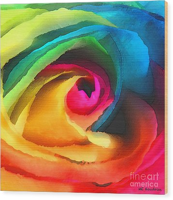Color Launch Wood Print by ME Kozdron