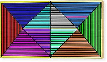 Color Lines Wood Print by Rachael McIntosh