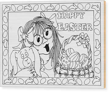 Color Me Card - Easter Wood Print