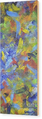 Color Movement Wood Print by Kathleen Pio